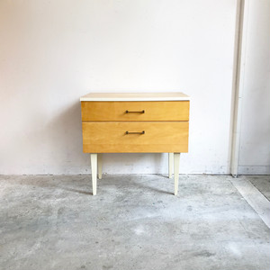 70's Retro Birch Wood Bedside Chest 旧西ドイツ