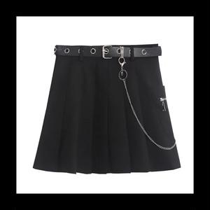 【お取り寄せ】リングベルト ブラック キュロットスカート