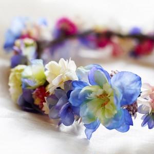 幸せな花嫁★ブライダルアートフラワー花かんむりヘッドリース