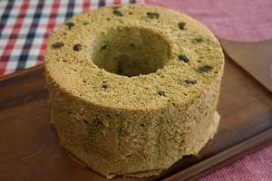豆乳シフォンケーキ(抹茶あずき)