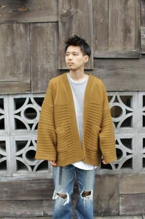 """YASHIKI 2019AW """"Minori Hanten Knit"""" / OCHER"""
