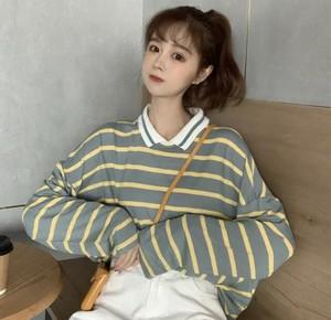 全2色♡ ゆるカジ♡ ボーダーポロシャツ♡