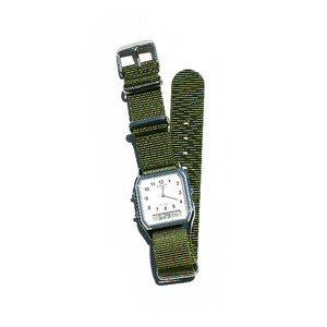 CASIO BASIC WATCH DIGI-ANA 04 / NATO-type Strap / Khaki