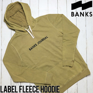 BANKS バンクス LABEL FLEECE HOODIE プルオーバーパーカー WFL0156 OGR