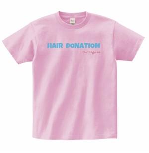 ヘアドネーションチャリティTシャツ(ピンク)