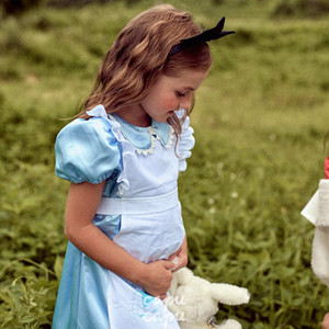 «予約»«pourenfant»«ハローウィン»«不思議の国のアリス» アリスのワンピース