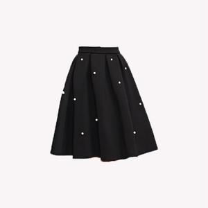RIMI&Co. SELECT パール装飾 ネオプレンフレアースカート