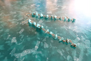 turquoise pierce / earring