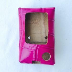 フリースタイルリブレ レザーケース shocking pink