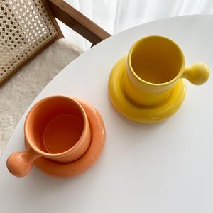 cercle ball cup saucer set 2colors / サークル ボール コーヒー カップ ソーサー セット コップ プレート オブジェ 北欧 韓国 インテリア 雑貨