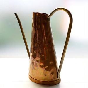 銅と真鍮の水さし/handmade
