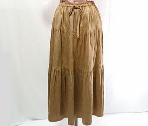草木染手織りシルク ティアードスカート