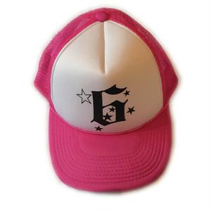 SIX logo MESH CAP(PINK x BLACK print)
