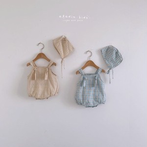 『翌朝発送』check suit〈aladin kids〉【baby】with bonnet