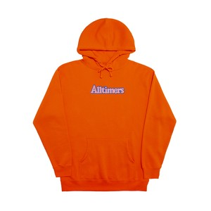 ALLTIMERS / BROADWAY EMBROIDERED HOODIE -ORANGE-