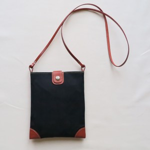 Paraffin canvas middle pochette BLACK