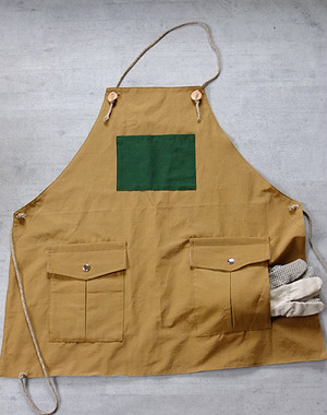 Mountain reversible apron[Wood Beige]