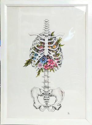 Bone & flowers
