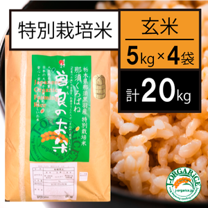 【20kg】特別栽培米_玄米 「曽良のお米(そらのおこめ)」