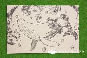 ポストカード(シロナガスクジラ)
