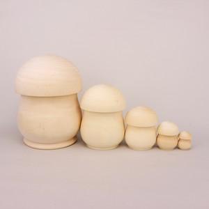 白木 きのこ型 5個型