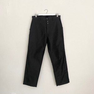 LE SANS PAREIL MOLESKIN WORK PANTS-BLACK-