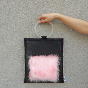 anti clone『hard tulle bag  BK/ペールピンク』
