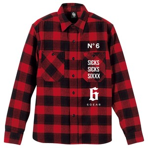 SIXXX Flannel shirts [red]