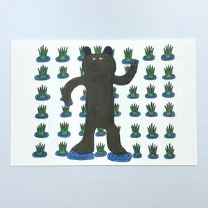 アートカード【Yasuhiro Kobayashi 田んぼにいるクマ】