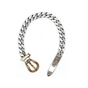 Hermès Vintage Sterling Silver & 18k Gold Boucle Sellier Bracelet