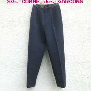 【80s】トリコ コムデギャルソンtricot COMME des GARCONS/ビンテージ/ヴィンテージ/ウール/スラックス/テーパードパンツ/M/ネイビー/