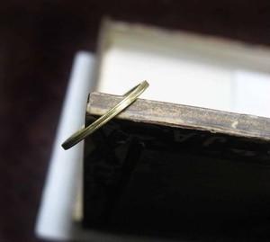ミル打ち飾りの真鍮リング