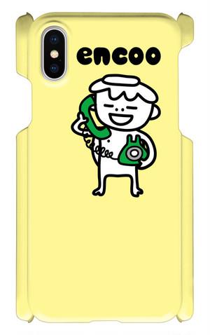 encoo電話中 : スマホケース iPhone X