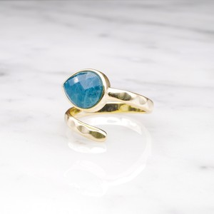 SINGLE STONE OPEN RING GOLD 022