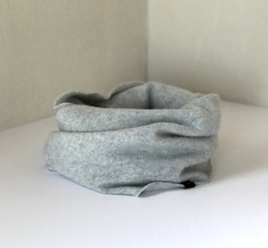 カシミヤスヌード【 Pure cashmere snood  L/Gray 】