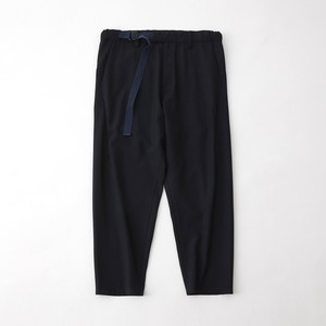 TROPICAL T/W BELTED PANTS - NAVY