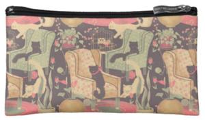 椅子とネコ・化粧ポーチ(スウェーデンデザイン)