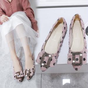 【shoes】美人度アップ浅いキラキラ大人気シューズ 23339338