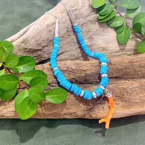 【In the Pines Jewelry×CORALIA】ネックレス ピンクサンゴ ターコイズ SV