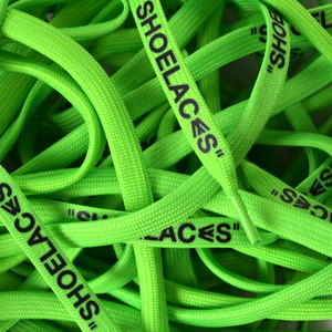 """FLAT LACES SOLID """"SHOELACES/NEON GREEN"""""""