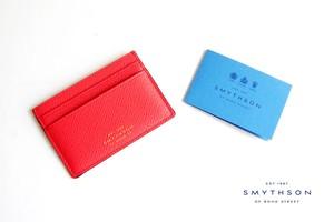 スマイソン|SMYTHSON|パナマ カードケース|CORAL RED