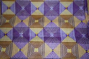 アフリカンバティック生地 幾何学風デザイン