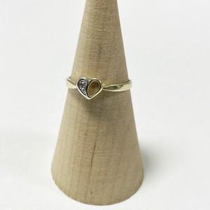 Vintage 10K Gold Diamond Heart Ring
