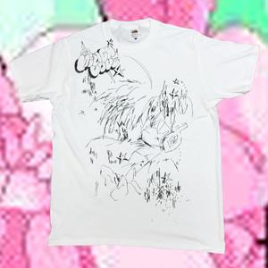 """T-shirt """"桃色ほっぺのレモンを探して"""""""