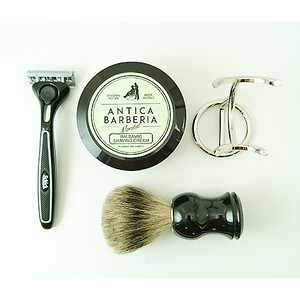 ANTICA with SCHICK QUATRO SPECIAL KIT(BLACK EDITON) ヒゲブラシスタンド付き