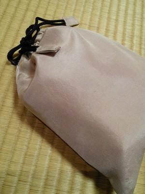 シルク生地 ワイン染め 巾着袋