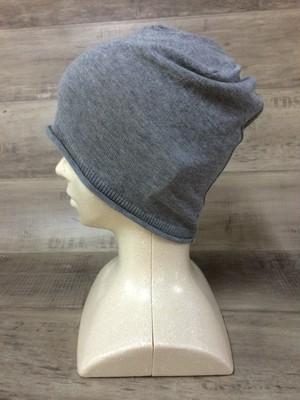 【送料無料】こころが軽くなるニット帽子amuamu|新潟の老舗ニットメーカーが考案した抗がん治療中の脱毛ストレスを軽減する機能性と豊富なデザイン NB-6058|黒ゴマ <オーガニックコットン アウター>