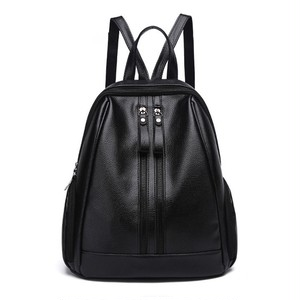 PU Leather Backpack Zipper Backpack Laptop Bag (HF99-9975381)