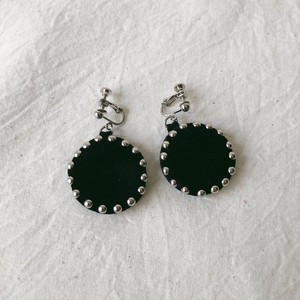 line-studs earring / black