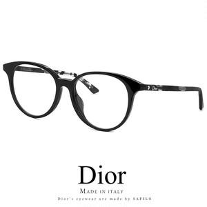 Dior メガネ montaigne47f-wr7 眼鏡 ディオール Christian Dior モンテーニュ ボストン ラウンド 丸眼鏡 黒縁